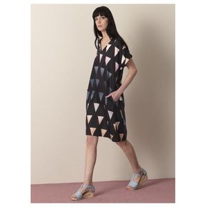 ELK Agnes Shift Dress, Ombré Triangle Print, US 6
